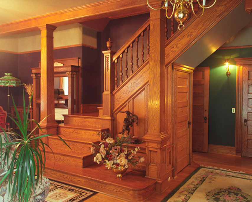 The foyer already featured some wonderful woodwork, so we tried to honor and complement it as we helped the owners coax the grand old house into a new life as a country inn.